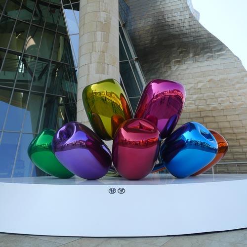 Guggenheim Bilbao: Jeff Koons: Tulips, 1995-2004, Foto: Heiko Klaas
