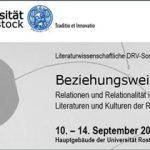Beziehungsweise(n) – Relationen und Relationalität in den Literaturen und Kulturen der Romania