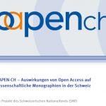 OAPEN-CH-Projekt des SNF: Open Access macht Bücher sichtbarer