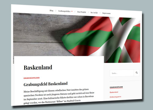 Screenshot des Blogs 'Bouvard & Pécuchet – Archäologien des Lesens'