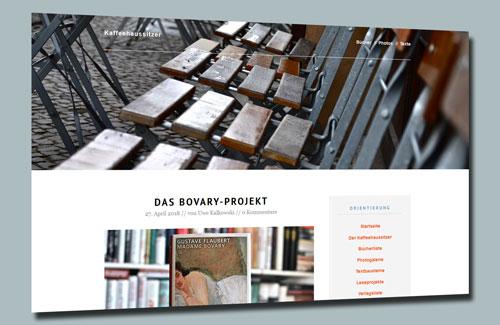 Screenshot des Blogs Kaffeehaussitzer