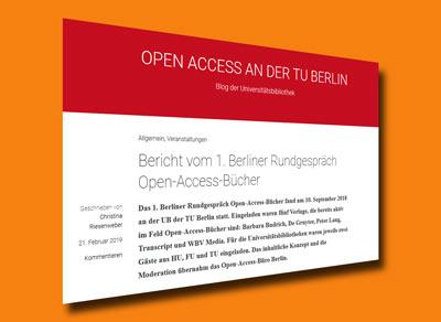 Rundgespräch über Open Access-Bücher in Berlin