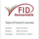 FID-Lizenzen für hispanistische Zeitschriften aus dem Hause Taylor & Francis