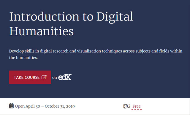 Harvard-Online-Kurs Digital Humanities