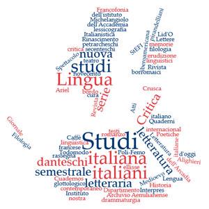 Wortwolke aus den Titeln der italienischen Zeitschriften bei Torrossa