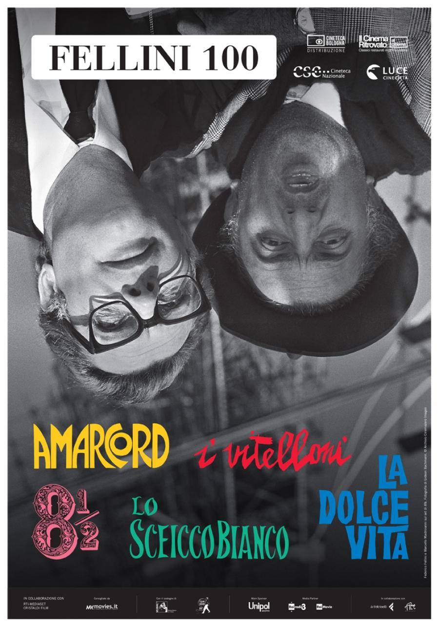 Poster der für Fellinis 100. Geburtstag restaurierten Filme