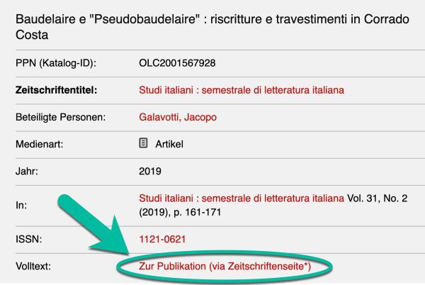 Detailseite - Baudelaire e 'Pseudobaudelaire'