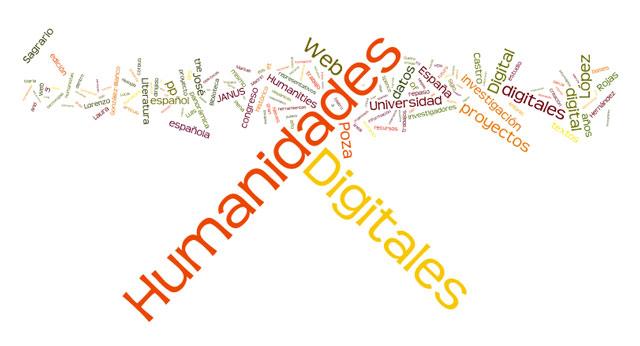 Wortwolke aus dem Artikel 'Humanidades Digitales y Literatura española: 50 años de repaso histórico y panorámica de proyectos representativos'