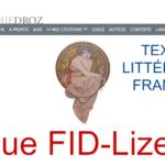 """Neu: FID-Lizenz für die Datenbank """"Textes littéraires français"""""""