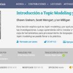 Spanischsprachiges Tutorial zu Topic Modeling und MALLET