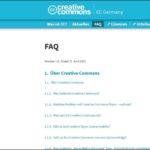 Neue FAQ: Die Creative-Commons-Lizenzen ausführlich erklärt
