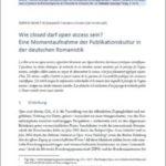 Marco Agnetta über Open Access in der Romanistik (Zweitveröffentlichung im Romanistik-Blog)