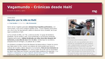 Vagamundo, Blog des RTVE-Korrespondenten Fran Sevilla
