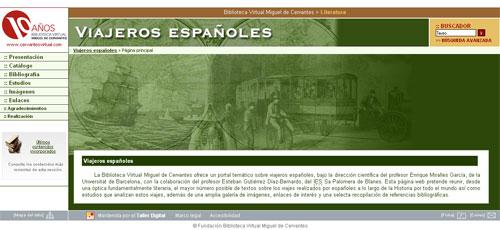 Biblioteca Cervantes: Viajeros Españoles