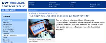 Social-Web-Debatte organisiert von der Spanischen Seite der Deutschen Welle