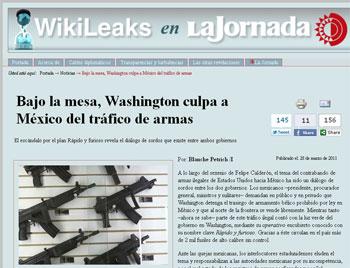Wikileaks en La Jornada - 28.3.2011